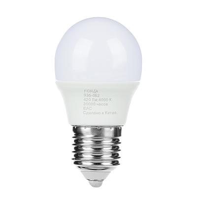 FORZA Лампа светодиодная G45 5W, E27, 420lm 4000К - фото товара