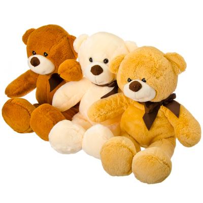 Игрушка  Плюшевый медвежонок , полиэстер, 36см, 3 цвета - фото товара