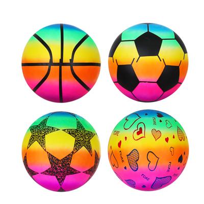 Мяч  Яркий день , ПВХ, 25см, 4 цвета - фото товара
