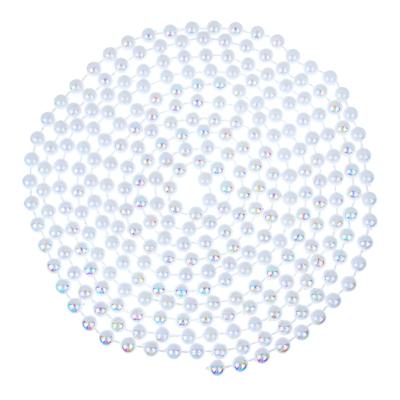 СНОУ БУМ Бусы декоративные, 2,7м, d7мм, пластик, арт.НФ, белый перламутр - фото товара