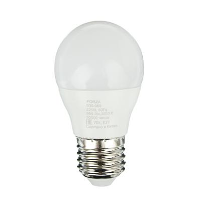 FORZA Лампа светодиодная G45 7W, E27, 560lm 3000К - фото товара