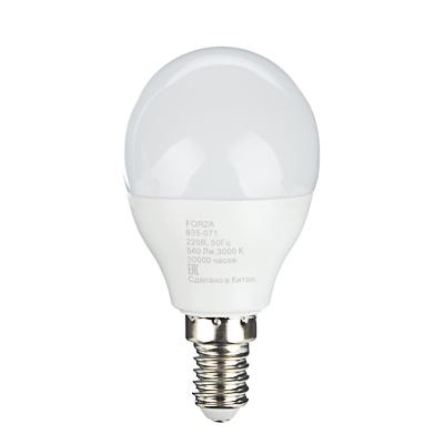 FORZA Лампа светодиодная G45 7W, E14, 560lm 3000К - фото товара