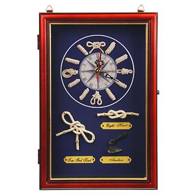 LADECOR Ключница декоративная на 6 крючков, дерево, стекло, 30х20х7см, 2 цвета, арт.08-08 - фото товара