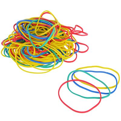 Фото товара ClipStudio Резинка банковская цветная, набор 50гр, в пакете с подвесом