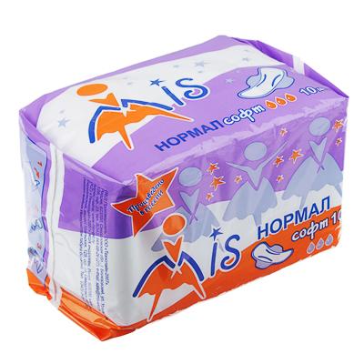 Прокладки гигиенические Mis нормал софт,3 капли,п/э 10 шт - фото товара