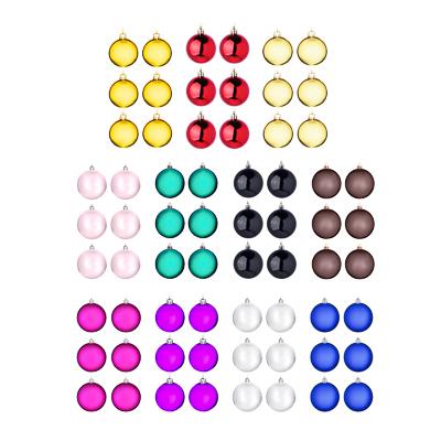 СНОУ БУМ Набор шаров 6шт, 6см, пластик, в пакете, ассортимент цветов, глянец - фото товара
