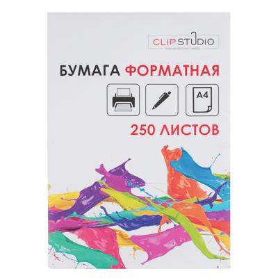 ClipStudio Бумага форматная А4, 250л, 65г/м2, 92%, Кама - фото товара