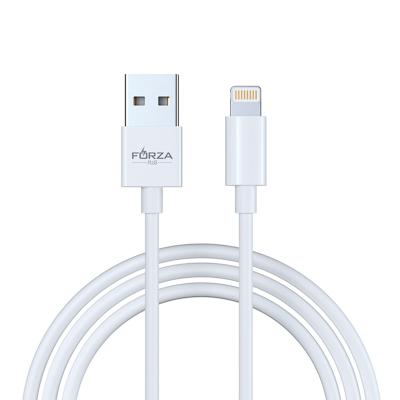 FORZA Кабель для зарядки  ЭТАЛОН  iP, 1м, 2А, коннектсПК, впластиковомбоксе, белый - фото товара