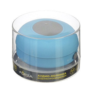 FORZA Аудио-колонка водонепрониц. на присоске, 8х5,5, 300 мАч, пластик, 3 цв.
