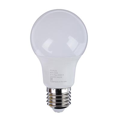FORZA Лампа светодиодная A60 6W, 3000K, 510lm E27 - фото товара