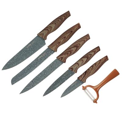 SATOSHI Алмаз Набор ножей кухонных 6пр, в магнитной коробке - фото товара