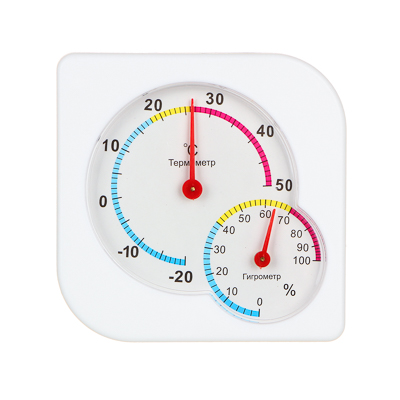 INBLOOM Термометр мини, измерение влажности воздуха, квадратный, 7,5x7,5см, пластик, блистер - фото товара