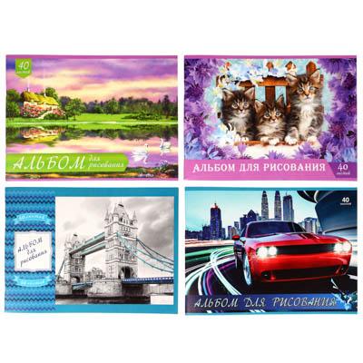 ClipStudio Альбом для рисования A4 40л., офсет 100г/м2, обл.картон 240 г/м2, скрепка, 4 диз. - фото товара