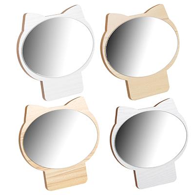 Зеркало настольное, стекло, ДВП, 17,3х17см, 4 цвета - фото товара