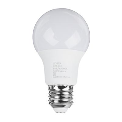 FORZA Лампа светодиодная A60 9W, E27, 806lm 4000К - фото товара