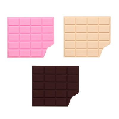Зап. книжка с отр. листами 10,5х9 см, 80 л., в форме шоколадки, ароматизированная, силикон, бумага - фото товара