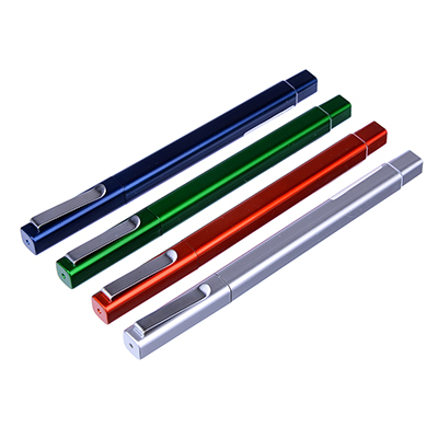 Ручка шариковая синяя, квадратный корпус, 0,7мм, 13,4см, пластик, 4 цвета корпуса