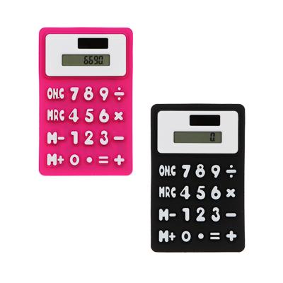 Калькулятор 8-разр.с гибким силиконовым корпусом и магнитом, солн.питание, 7,3х11,6см, 4 цв - фото товара