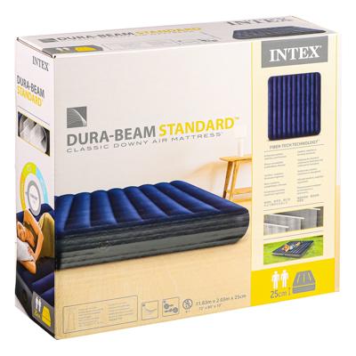INTEX Кровать надувная Classic downy (Fiber tech) Кинг,1,83м x 2,03м x 25см, 64755 - фото товара