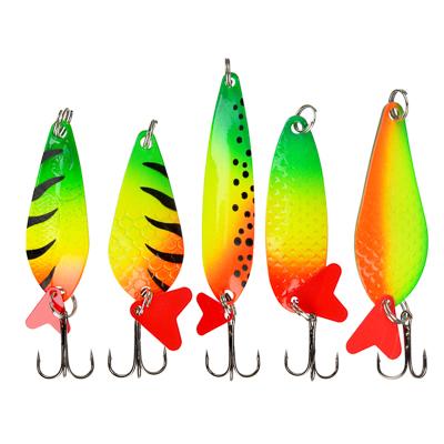 AZOR FISHING Блесна колеблющаяся  Щука , кислотная, 5 видов - фото товара