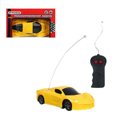ИГРОЛЕНД Машинка на радиоуправлении ,1:24 ,1-канальный пульт, 18х10х5 см, 2 цвета - фото товара