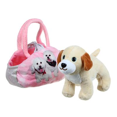 ИГРОЛЕНД Игрушка мягкая в сумке, текстильные материалы, 18х27х13см, 3 дизайна - фото товара