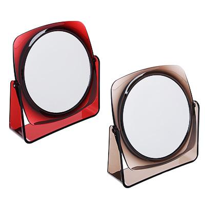 Зеркало настольное, 16,5х17,5см, пластик, стекло, 2 цвета, 1207С - фото товара