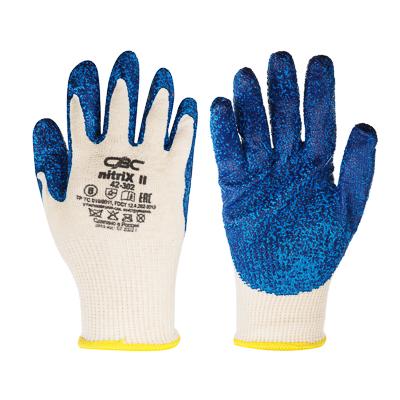 ЕРМАК Перчатки вязаные трикотажные с рельефным латексным покрытием - фото товара