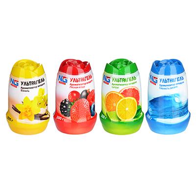 NEW GALAXY Ароматизатор воздуха гелевый  Ультрагель ,200г,ваниль/лесная ягода/свежесть океана/цитрус - фото товара
