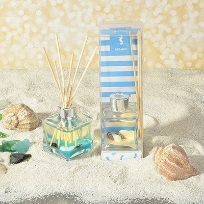LADECOR Аромадиффузор с палочками и декором морской, 50мл, 2 аромата - фото товара