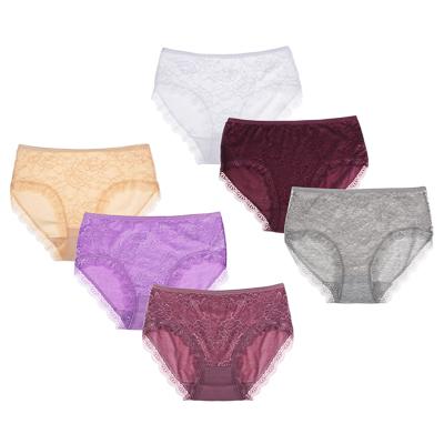 Трусы женские макси ажурные, р-ры 48-56, 95% хлопок, 5% эластан, арт.1 - фото товара