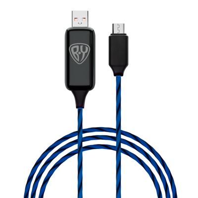 FORZA BY Кабель для зарядки Светящийся Micro USB, 1м, 2.4А, Быстрая зарядка QC3.0, LED подсветка - фото товара