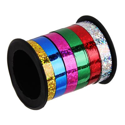 Лента подарочная голография разноцветная, 0,7 см х18 м - фото товара