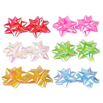 LADECOR Набор подарочных бантов, 2 шт, 7 см, 6 цветов, перламутр - фото товара