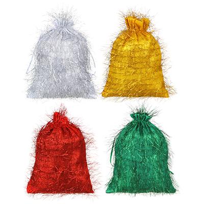 Мешок подарочный ткань, полиэстер, 18х24см, 4 цвета - фото товара