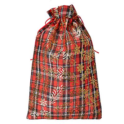 Мешок подарочный ткань, полиэстер, с блестящим слоем, 20х30 см - фото товара