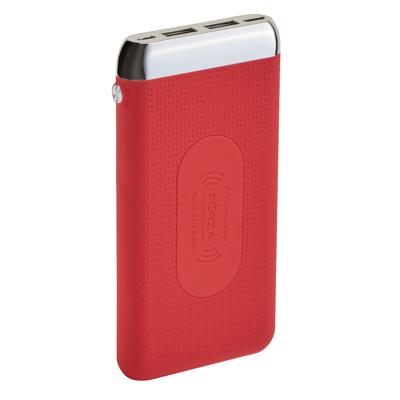 FORZA Аккумулятор мобильный беспроводной, 8000 мАч, 2USB, 2А, прорезиненный, пластик, 3 цвета - фото товара