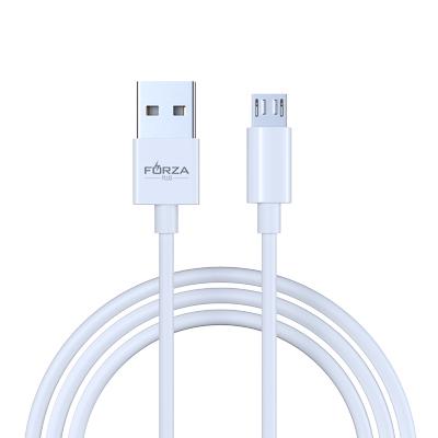 FORZA Кабель для зарядки  ЭТАЛОН  Micro USB, 1м, 2А, коннект с ПК, в пластиковом боксе, белый - фото товара