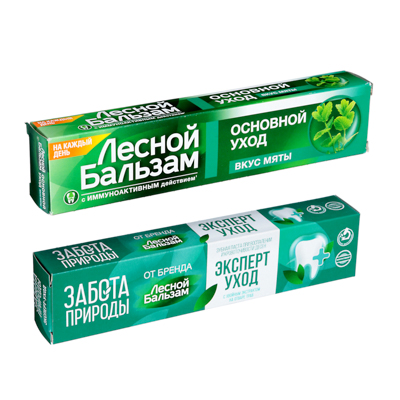 Зубная паста Лесной бальзам со вкусом мяты/с бальзамом для дёсен, 75мл - фото товара
