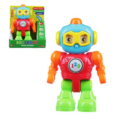 ИГРОЛЕНД Игрушка интерактив. обучающая в виде робота, свет, звук, 2АА, ABS, 21х24х8,5см - фото товара