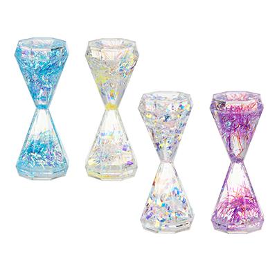 Часы-антистресс, с блестящим наполнителем, 13,5х5,5 см, пластик, 4 цвета - фото товара