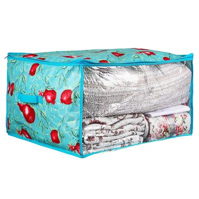 VETTA Гранат Кофр для подушек и одеял с прозрачным окном, 60х50х35см, спанбонд, ПЕВА