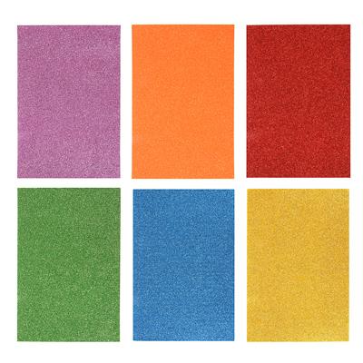 LADECOR Наклейка глиттер, 20х30см (22х36 см), ПЕВА, 6 цветов - фото товара