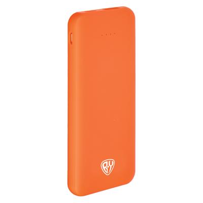 Аккумулятор мобильный , 4000 мАч, USB, 2А, прорезиненное покрытие, пластик, 4 цвета
