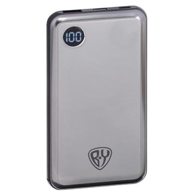 Аккумулятор мобильный , 10000 мАч, металл, USB, Type-C, 2А, цифровой индикатор заряда