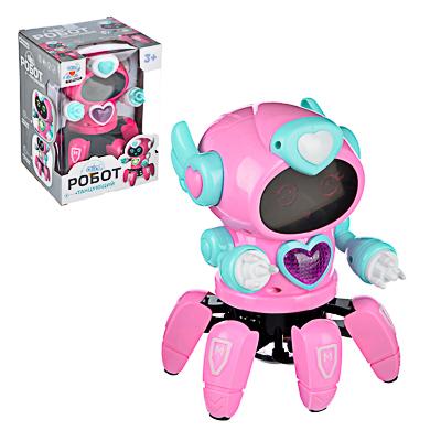 ИГРОЛЕНД Игрушка интерактивная в виде робота, движение, свет, звук, 3АА, пластик, 18х14х14см - фото товара
