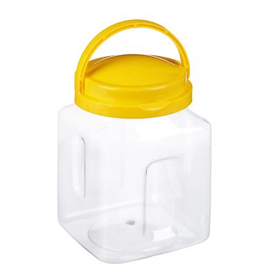 Банка с ручкой для хранения сокровищ  Play&Learn  желтый, 20х12см, пластик