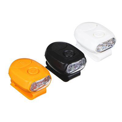 ЧИНГИСХАН Фонарик на кепку, 3 LED, 2xCR2032, 1 режим, пластик - фото товара