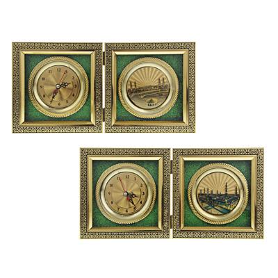 Часы настольные, стекло, закрывающиеся, 16х16 см , 1хАА, МT. Арт 2 - фото товара