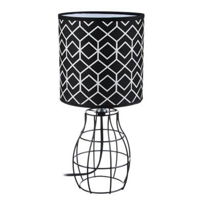 FORZA Лампа настольная, 30см, E14, 40Вт, металл, текстиль - фото товара